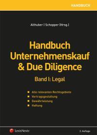 Handbuch Unternehmenskauf Due Diligence Band I Legal Online Bestellen 978 3 7007 5925 6 Manz
