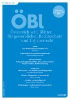 ÖBl - Österreichische Blätter für gewerblichen Rechtsschutz und Urheberrecht. Kennenlern-Abo 2 Hefte, Preis: inkl. Versand