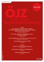 ÖJZ - Österreichische Juristen-Zeitung Kennenlern-Abo 3 Hefte, Preis: inkl. Versand