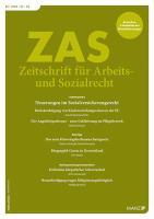 ZAS - Zeitschrift für Arbeits- und Sozialrecht Kennenlern-Abo 2 Hefte, Preis: inkl. Versand