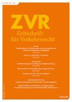 ZVR - Zeitschrift für Verkehrsrecht Kennenlern-Abo 3 Hefte, Preis: inkl. Versand