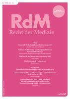 RdM - Recht der Medizin Kennenlern-Abo 2 Hefte, Preis: inkl. Versand