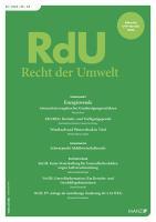 RdU - Recht der Umwelt Kennenlern-Abo 2 Hefte, Preis: inkl. Versand Inland