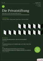 PSR - Die Privatstiftung Kennenlern-Abo 2 Hefte, Preis: inkl. Versand Jahrgang 2021