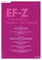 EF-Z - Zeitschrift für Familien- und Erbrecht Kennenlern-Abo 2 Hefte, Preis: inkl. Versand