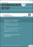VbR - Zeitschrift für Verbraucherrecht Kennenlern-Abo 2 Hefte,  Preis: inkl. Versand