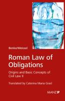 Roman Law of Obligations