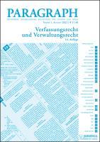 Paragraph - Verfassungs- und Verwaltungsrecht