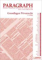Paragraph - Grundlagen Privatrecht