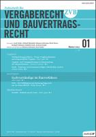 ZVB - Zeitschrift für Vergaberecht und Bauvertragsrecht. Kennenlern-Abo 3 Hefte, Preis: inkl. Versand