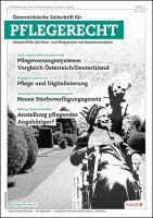 ÖZPR - Österr. Zeitschrift für Pflegerecht Kennenlern-Abo 2 Hefte Preis: inkl. Versand