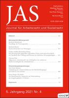 JAS - Journal für Arbeitsrecht und Sozialrecht Kennenlern-Abo 2 Hefte, Preis: inkl. Versand